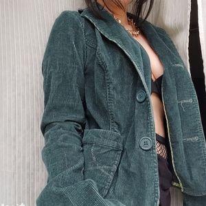 Emerald Green Corduroy Blazer